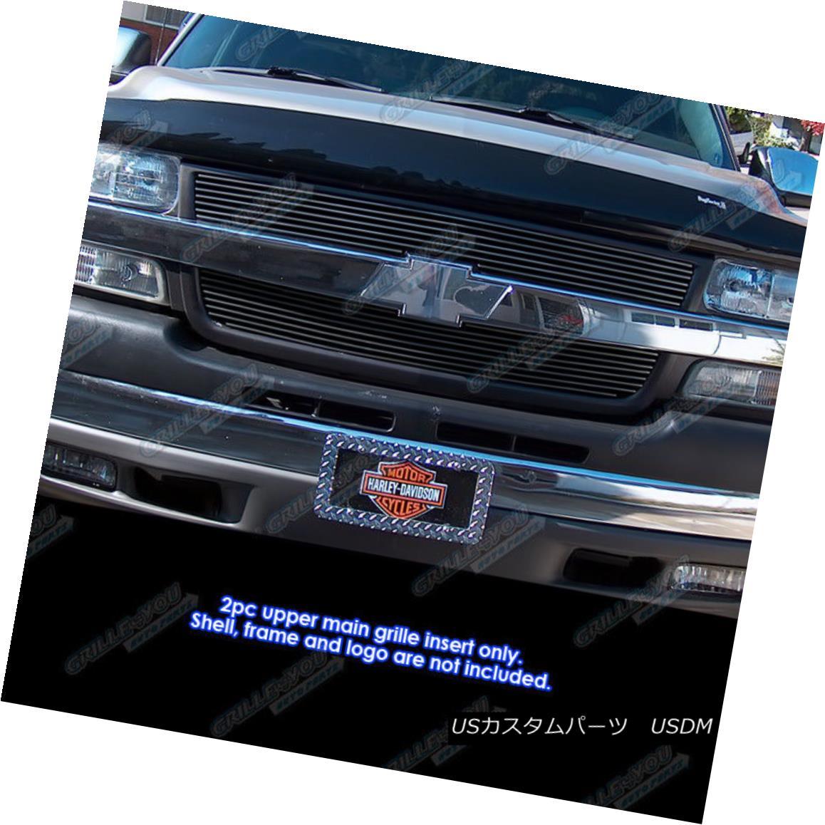 グリル For 2001-2002 Chevy Silverado 2500/3500 Black Billet Grille Grill Insert 2001-2002シボレーシルバラード2500/3500ブラックビレットグリルグリルインサート