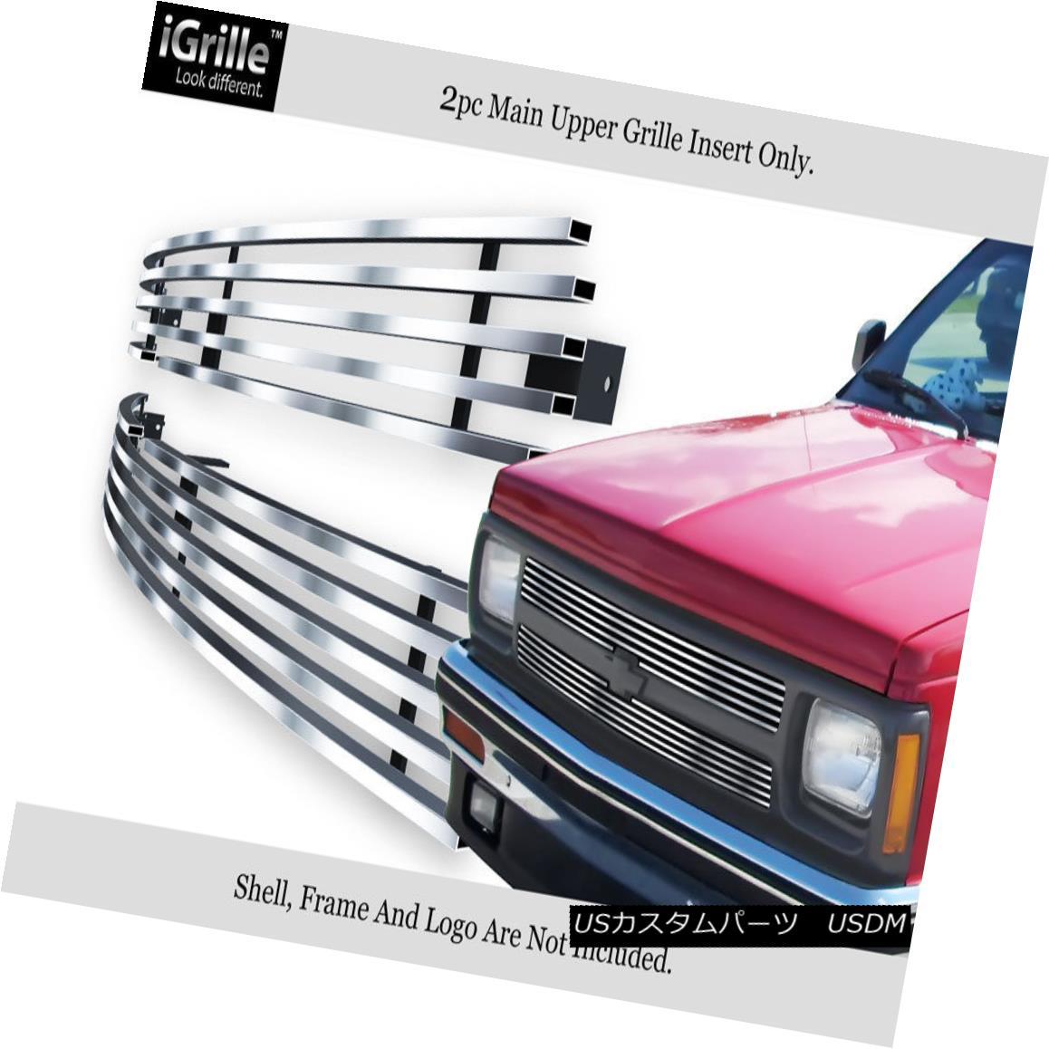 グリル For 91-92 Chevy S-10 S10 Pickup/S-10 Blazer Stainless Steel Billet Grille 91-92シボレーS-10 S10ピックアップ/ S-10ブレイザーステンレス鋼ビレットグリル