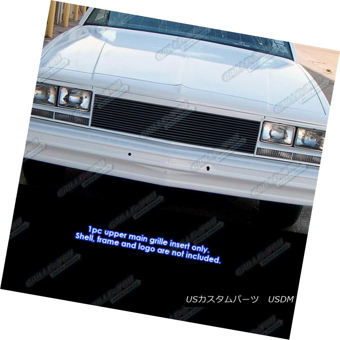 グリル Fits 1982-1987 Chevy EL Camino/ 82-83 Malibu Black Billet Grille Insert フィット1982-1987シェビーELカミノ/ 82-83マリブブラックビレットグリルインサート