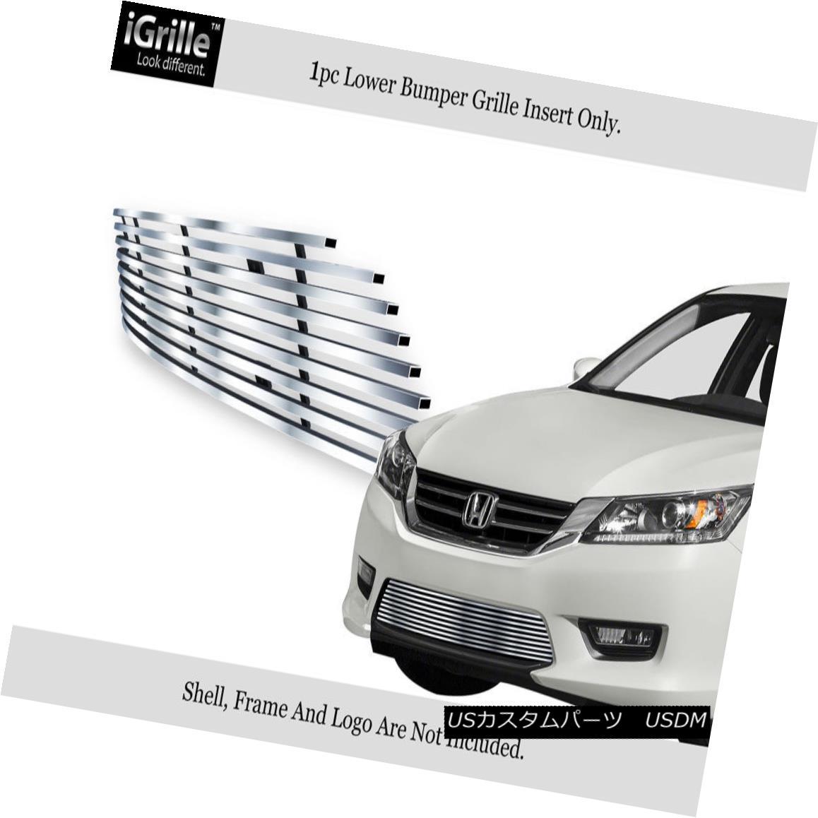 グリル Fits 2013-2015 Honda Accord Sedan Bumper Stainless Steel Billet Grille Insert フィット2013年から2015年ホンダアコードセダンバンパーステンレス鋼ビレットグリルインサート