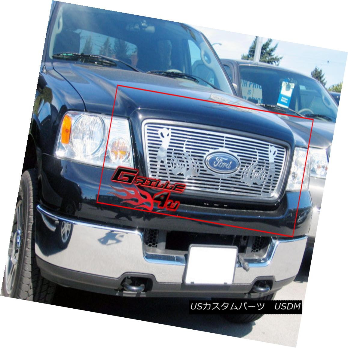 グリル 04-08 Ford F-150 Honeycomb Style Logo Show Symbolic CNC Machine Cut Grille 04-08 Ford F-150ハニカムスタイルロゴショーSymbolic CNC Machine Cut Grille