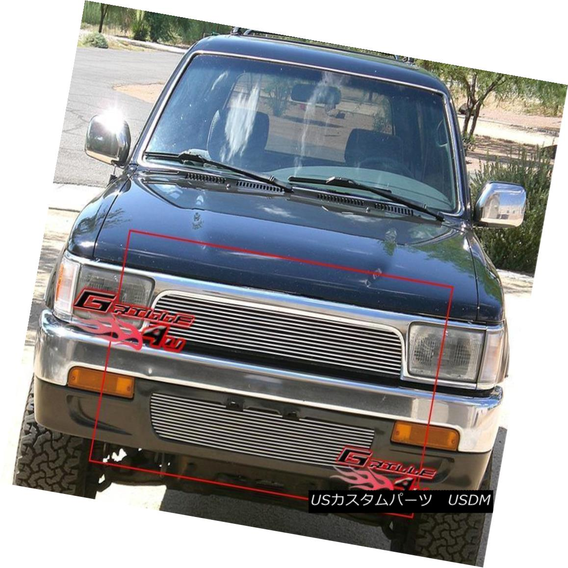 グリル Fits 92-95 Toyota 4Runner Billet Grille Combo フィット92-95トヨタ4Runnerビレットグリルコンボ