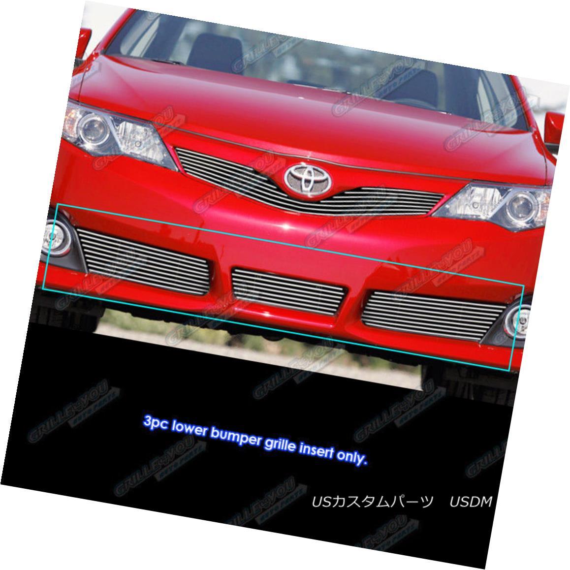 グリル Fits 2012-2014 Toyota Camry SE model Lower Bumper Billet Grille Insert フィット2012-2014トヨタカムリSEモデルロワーバンパービレットグリルインサート