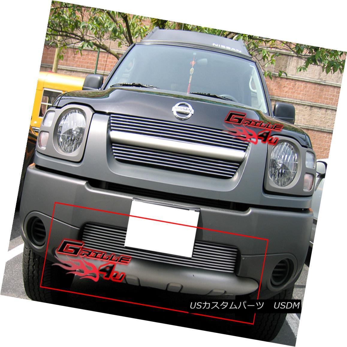 グリル Fits 2002-2004 Nissan Xterra Bumper Billet Grille Insert フィット2002-2004日産エクステラバンパービレットグリルインサート