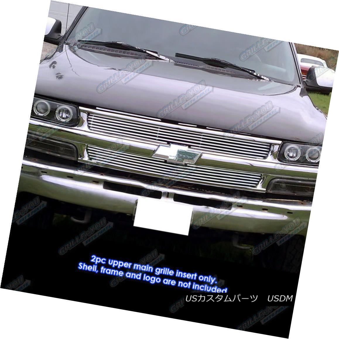 グリル Fits 1999-2002 Chevy Silverado 1500/2000-2006 Chevy Suburban Phat Billet Grille 適合1999-2002シボレーシルバラード1500 / 2000-2006シボレー郊外ファットビレットグリル