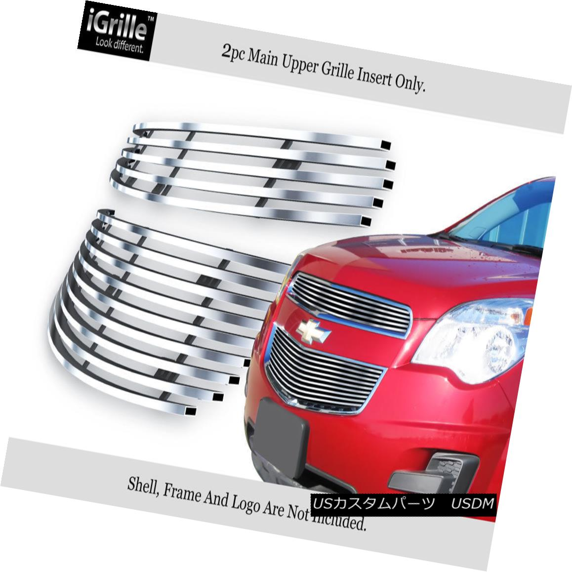 グリル Fits 2010-2015 Chevy Equinox Stainless Steel Billet Grille Insert フィット2010-2015シボレーエクイノックスステンレス鋼ビレットグリルインサート