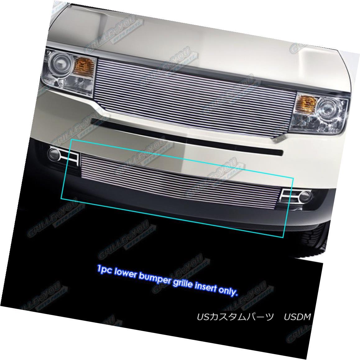 グリル Fits 07-10 Lincoln MKX Lower Bumper Billet Grille Insert フィット07-10リンカーンMKXロワーバンパービレットグリルインサート
