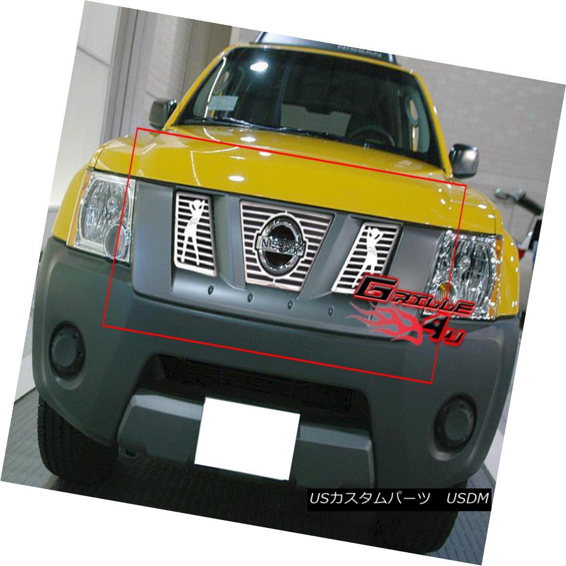 グリル Fits 2005-2008 Nissan Xterra Symbolic Grille Insert 2005-2008 Nissan Xterraシンボリックグリルインサートに適合
