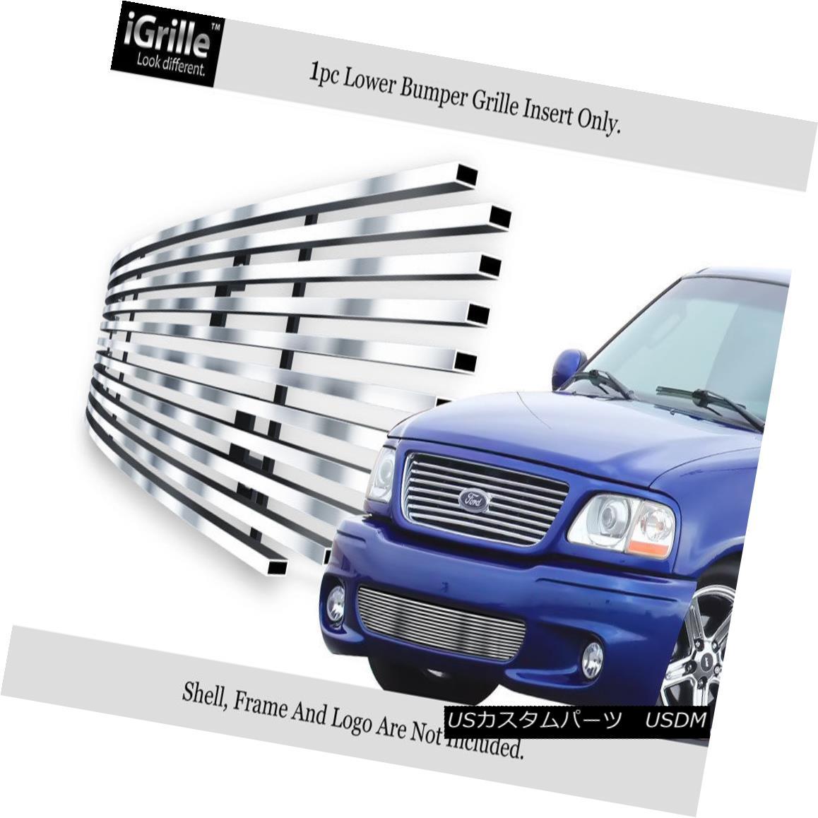 グリル Fits 99-03 Ford F-150 Lightning Bumper Stainless Steel Billet Grille Insert フィット99 - 03フォードF - 150ライトニングバンパーステンレス鋼ビレットグリルインサート