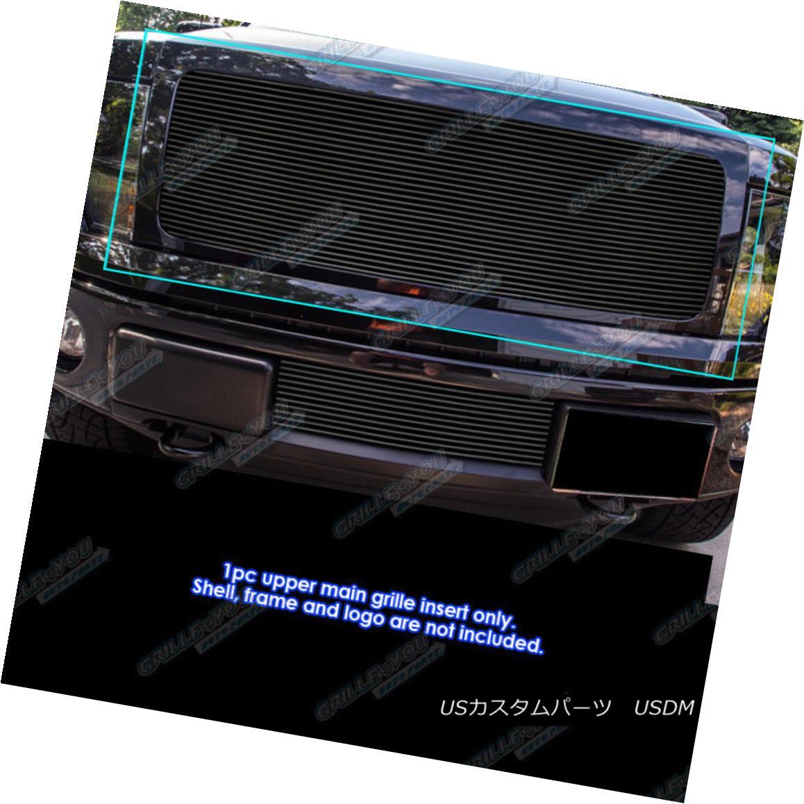 グリル Fits 2009-2014 Ford F-150 Regular Models Black Billet Grille Grill Insert フィット2009-2014フォードF - 150レギュラーモデルブラックビレットグリルグリルインサート