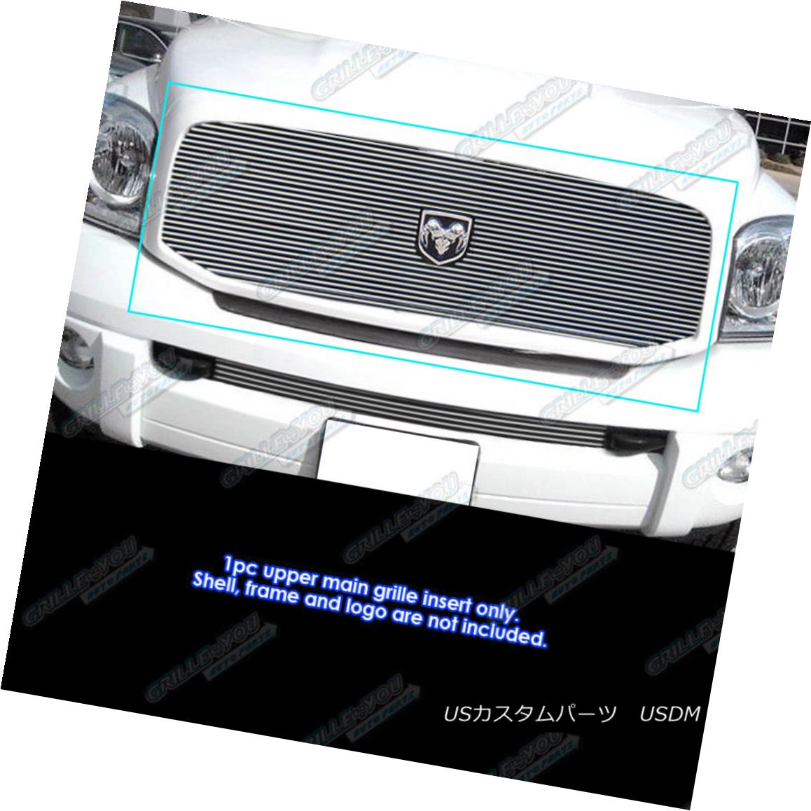 グリル Fits 2006-2008 Dodge Ram Pickup Main Upper Billet Grille Insert 2006-2008 Dodge Ram Pickupメインアッパービレットグリルインサート