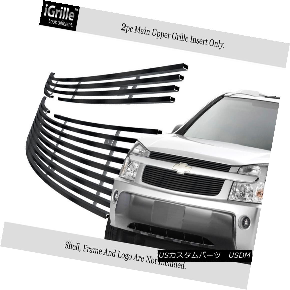 グリル Fits 2005-2009 Chevy Equinox Stainles Steel Black Billet Grille Insert 2005-2009 Chevy Equinoxステンレススチールブラックビレットグリルインサートに適合