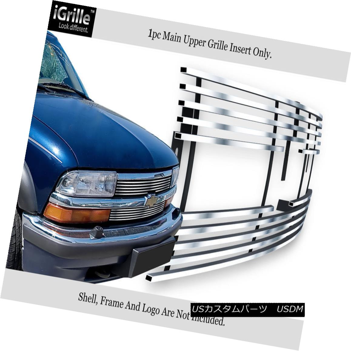 グリル Fits 98-04 Chevy S-10/Blazer Stainless Steel Billet Grille Insert フィット98-04 Chevy S-10 / Blazerステンレス鋼ビレットグリルインサート