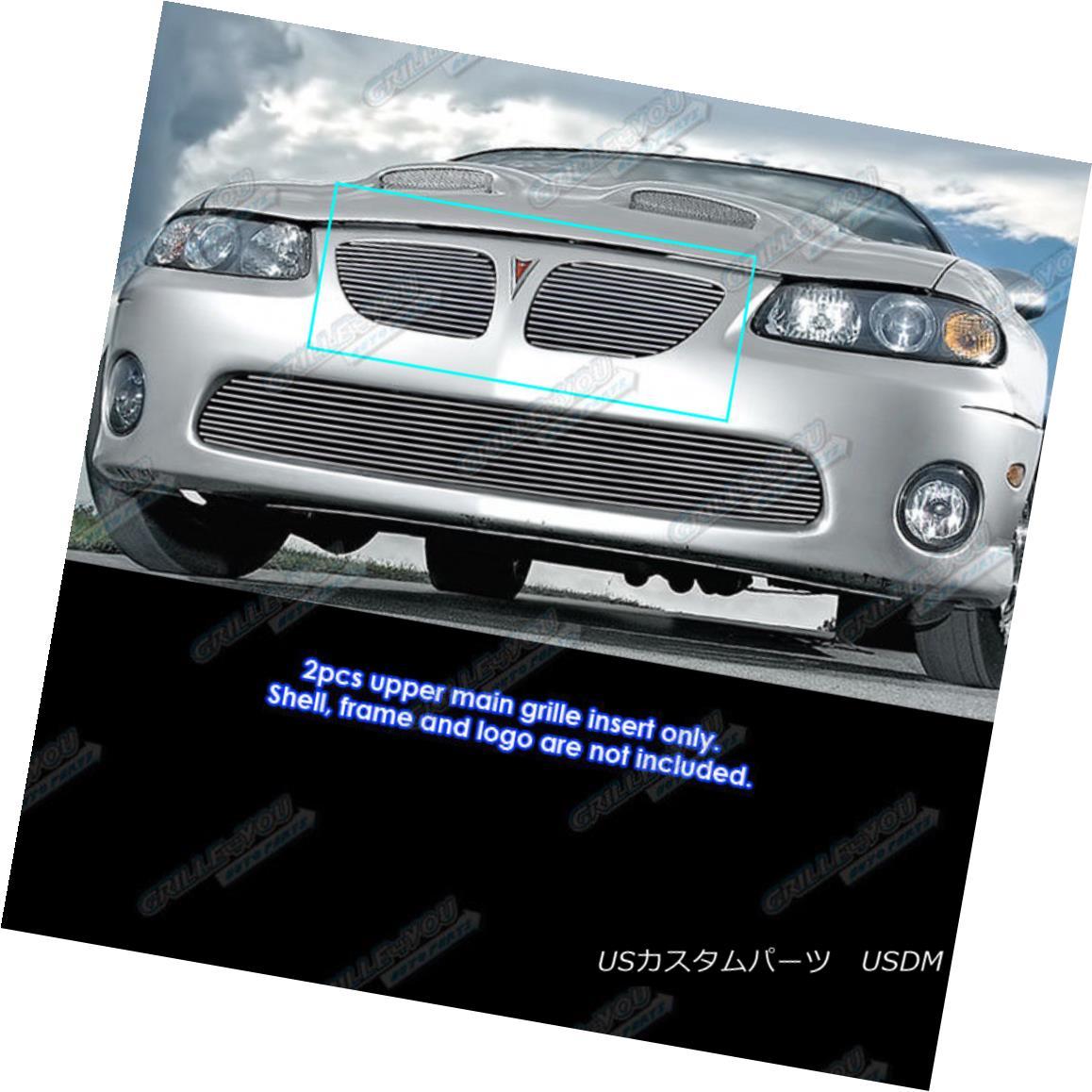 グリル Fits 2004-2006 Pontiac GTO Main Upper Billet Grille Grill Insert フィット2004-2006ポンティアックGTOメインアッパービレットグリルグリルインサート