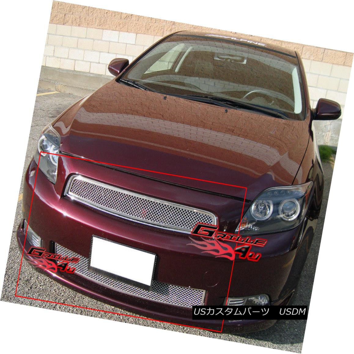 グリル Fits 2005-2010 Scion TC Stainless Steel Billet Grille Grill Combo Insert 2005-2010 Scion TCステンレススチールビレットグリルグリルコンボインサート