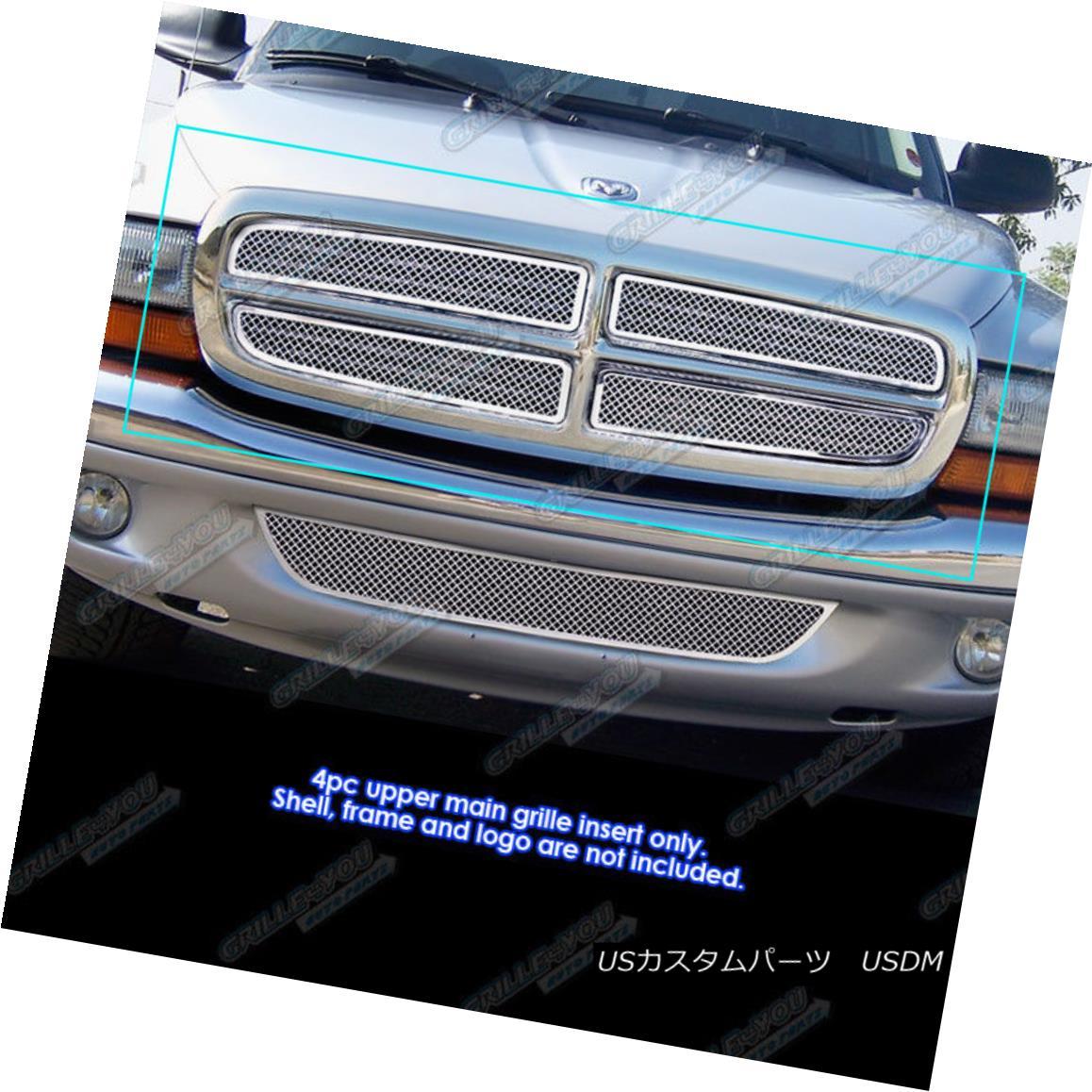 グリル 1997-2004 Dodge Dakota/97-2003 Durango Stainless Steel Mesh Grille Grill Insert 1997-2004 Dodge Dakota / 97-2003 Durangoステンレスメッシュグリルグリルインサート