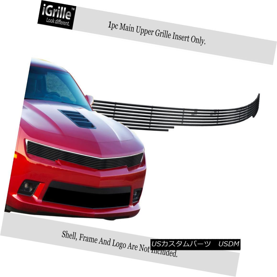 グリル Fits 2014-2015 Chevy Camaro RS Pack Phantom Stainless Steel Black Billet Grille フィット2014-2015シボレーカマロRSパックファントムステンレススチールブラックビレットグリル