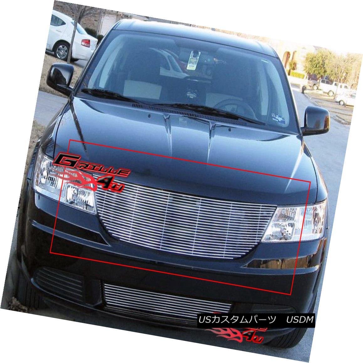 グリル Fits 09-10 Dodge Journey Main Upper Billet Grille Insert フィット09-10ドッジジャーニーメインアッパービレットグリルインサート