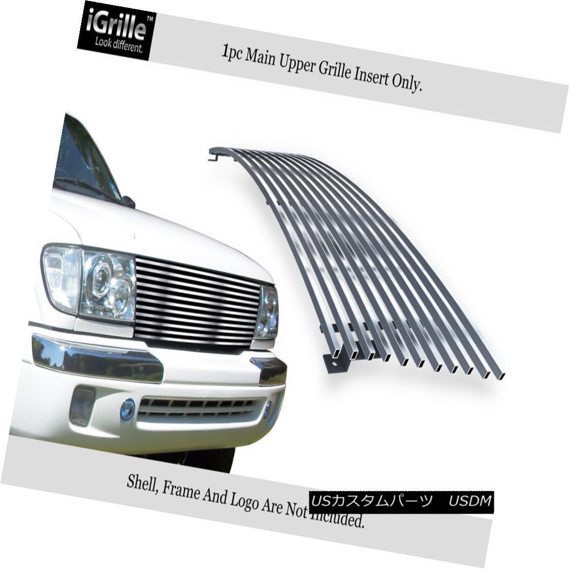 グリル Fits 98-00 Toyota Tacoma Stainless Steel Billet Grille Insert フィット98-00トヨタタコマステンレス鋼ビレットグリルインサート