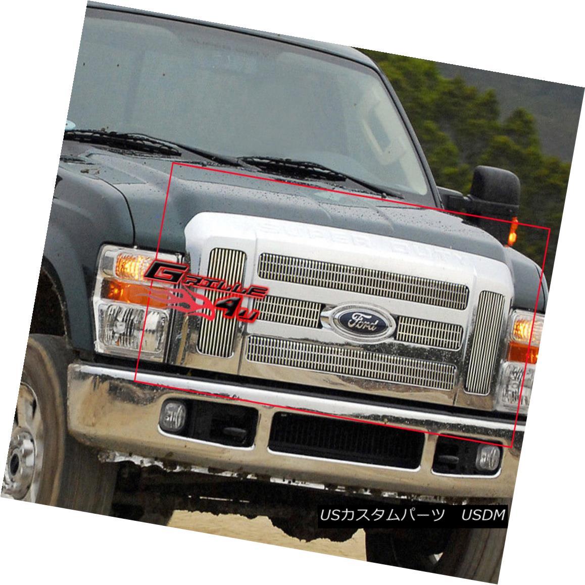グリル Fits 2008-2010 Ford F-250/F-350 SD Vertical Billet Grille Insert フィット2008-2010フォードF-250 / F-350 SD垂直ビレットグリルインサート