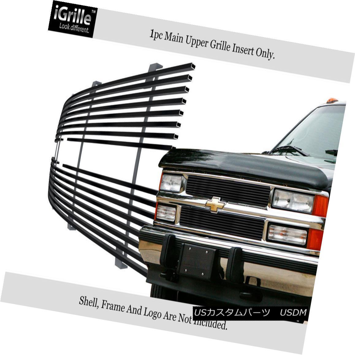 グリル Fits 88-93 Chevy C/K Pickup/Suburban/Blazer Black Stainless Steel Billet Grille 88-93 Chevy C / K Pickup / Suburba n / Blazer Blackステンレス鋼ビレットグリル