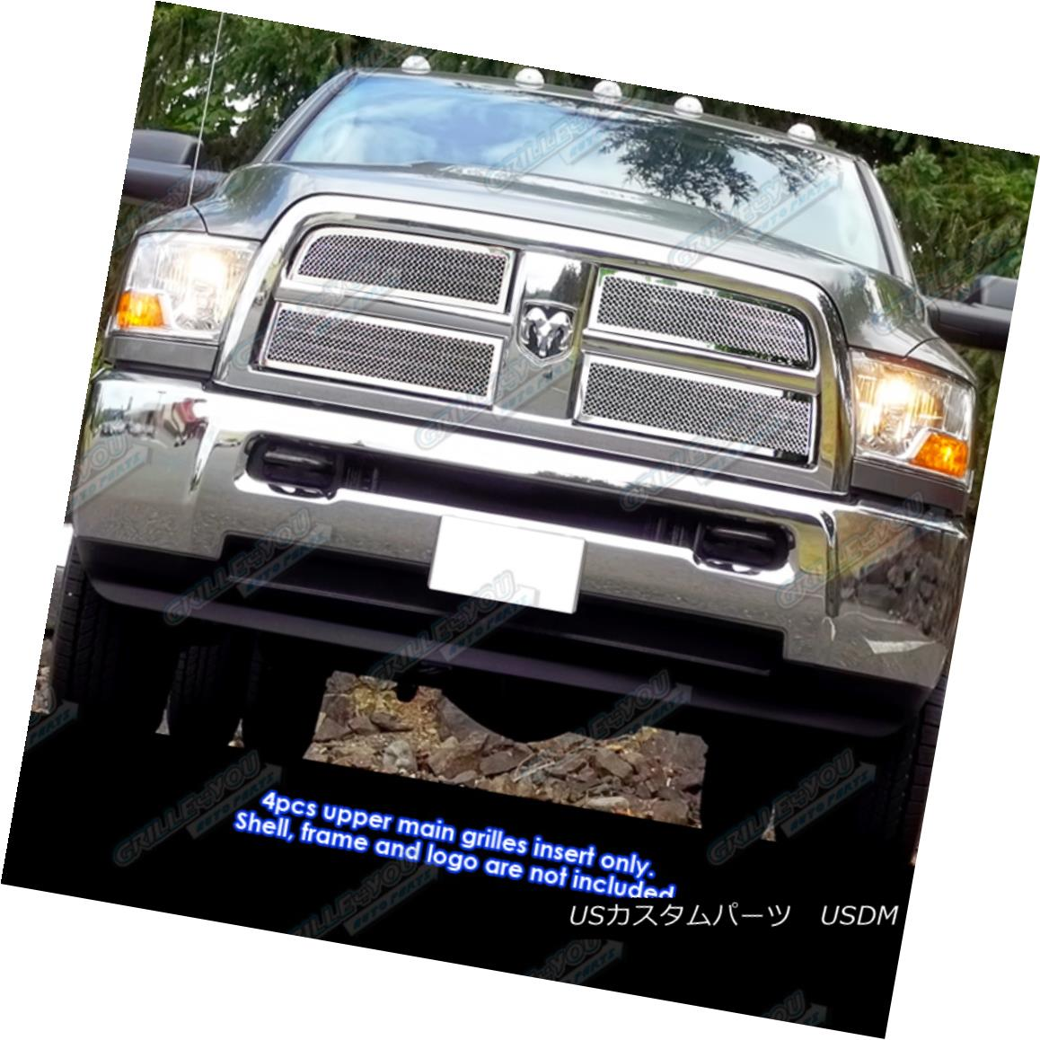 グリル Fits 2010-2012 Dodge Ram 2500/3500 Stainless Steel Mesh Grille Grill Insert フィット2010-2012ダッジラム2500/3500ステンレスメッシュグリルグリルインサート