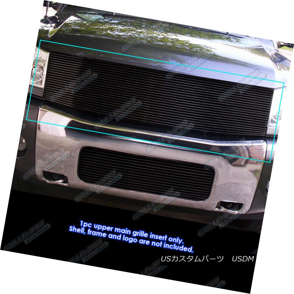 グリル Fits 2004-2007 Nissan Armada /2004-2015 Nissan Titan Black Billet Grille Insert 2004-2007日産アルマダ/ 2004-2015 Nissan Titan Black Billet Grille Insert
