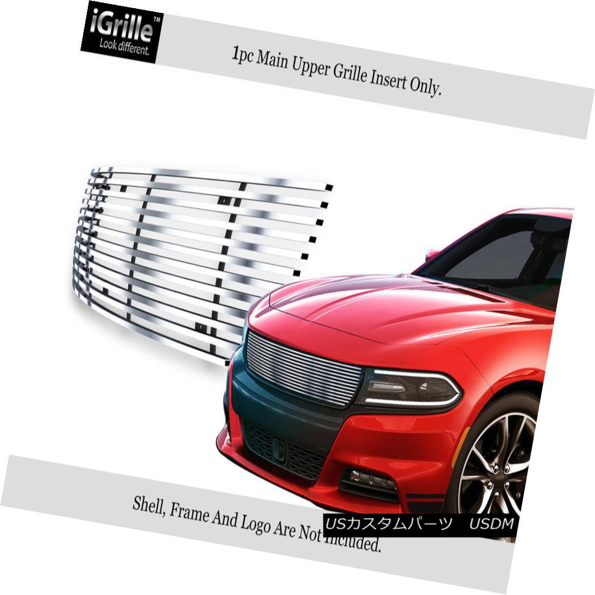 グリル Fits 2015-2018 Dodge Charger Stainless Steel Main Upper Billet Grille 2015-2018 Dodge Chargerステンレススチールメインアッパービレットグリルに適合