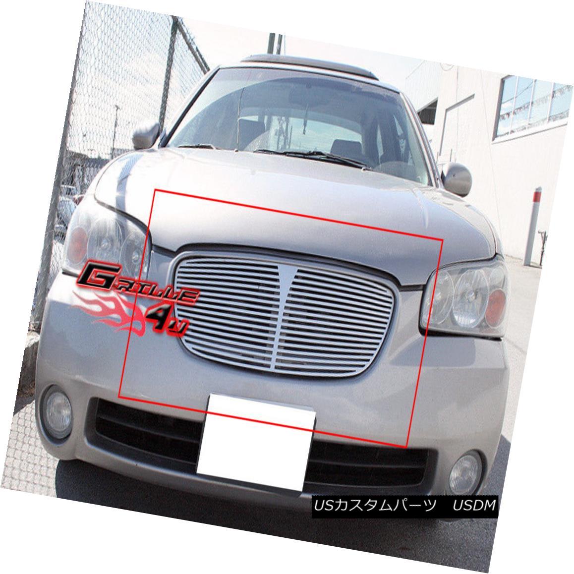 グリル For 2002-03 Nissan Maxima SE/GXE Perimeter CNC Machined Cut Grill Grille Insert 2002-03日産マキシマSE / GXE周辺CNC加工カットグリルグリルインサート