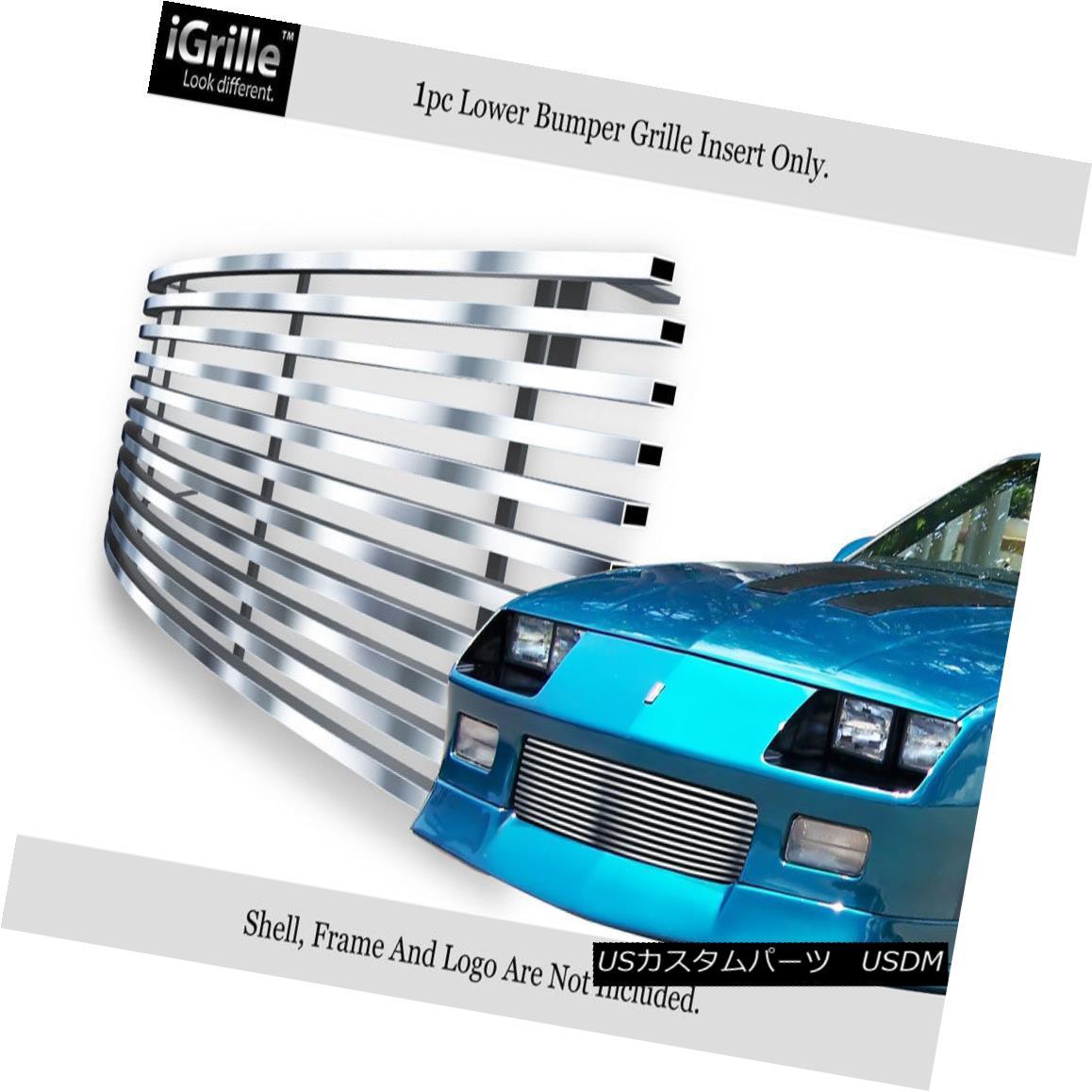 グリル Fits 88-92 Chevy Camaro Lower Bumper Stainless Steel Billet Grille Insert フィット88-92シボレーカマーロロワーバンパーステンレス鋼ビレットグリルインサート