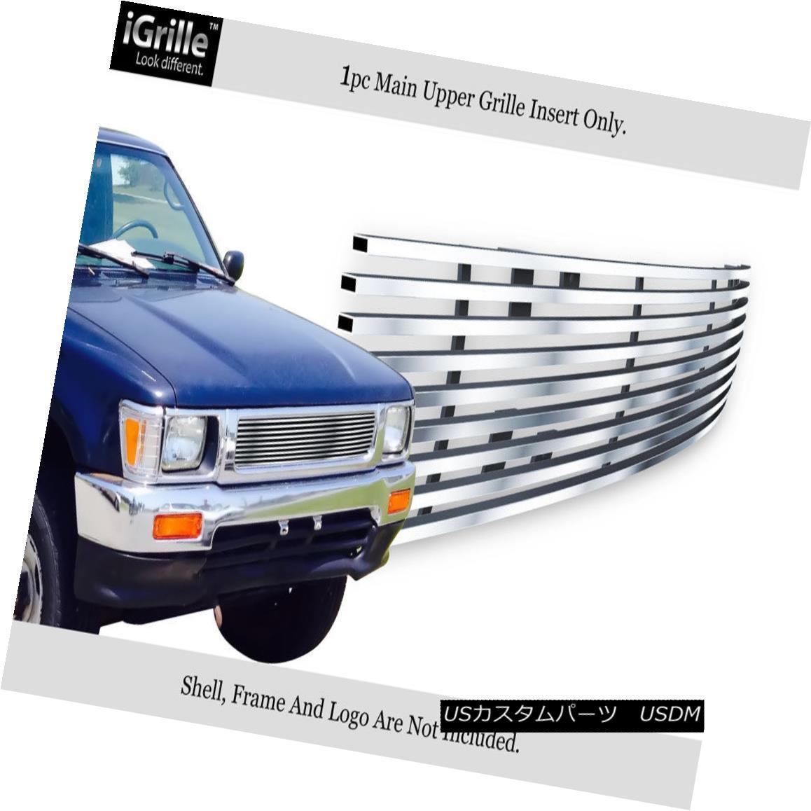 グリル Fits 1992-1995 Toyota Truck 4WD Stainless Steel Billet Grille Grill Insert フィート1992-1995トヨタトラック4WDステンレス鋼ビレットグリルグリルインサート