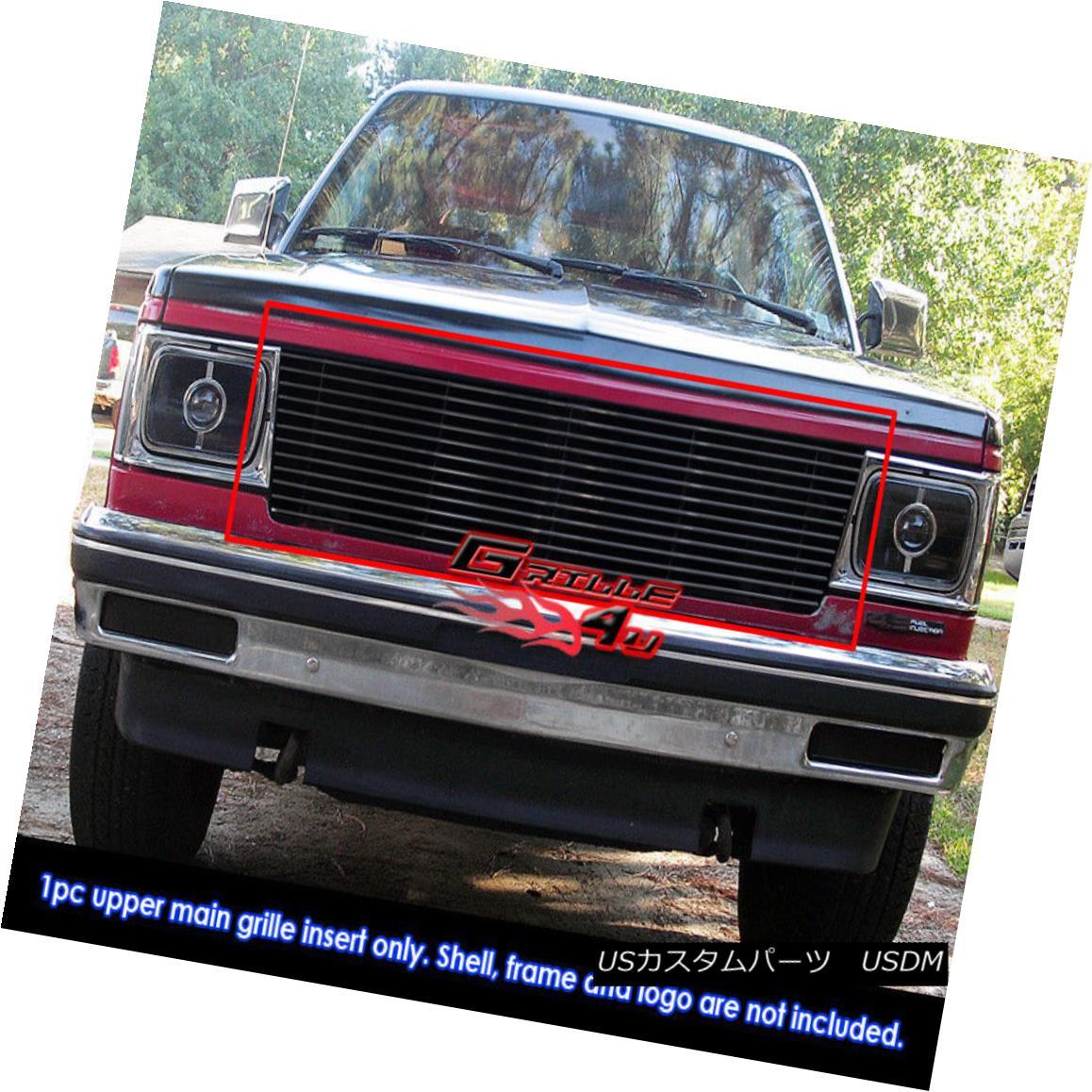 グリル Fits 82-90 Chevy S-10 Pickup/Blazer/S-15/Jimmy Black Billet Grille Insert フィット82-90シボレーS-10ピックアップ/ブレザー/ S-15 /ジミーブラックビレットグリルインサート