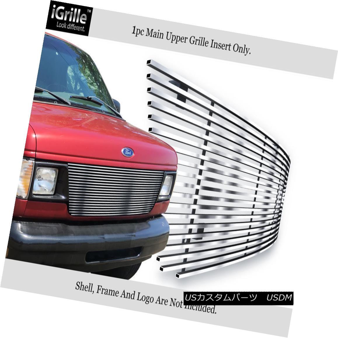 グリル Fits 1992-2006 Ford Econoline Van Stainless Steel Billet Grille Insert 1992-2006 Ford Econoline Vanステンレススチールビレットグリルインサート