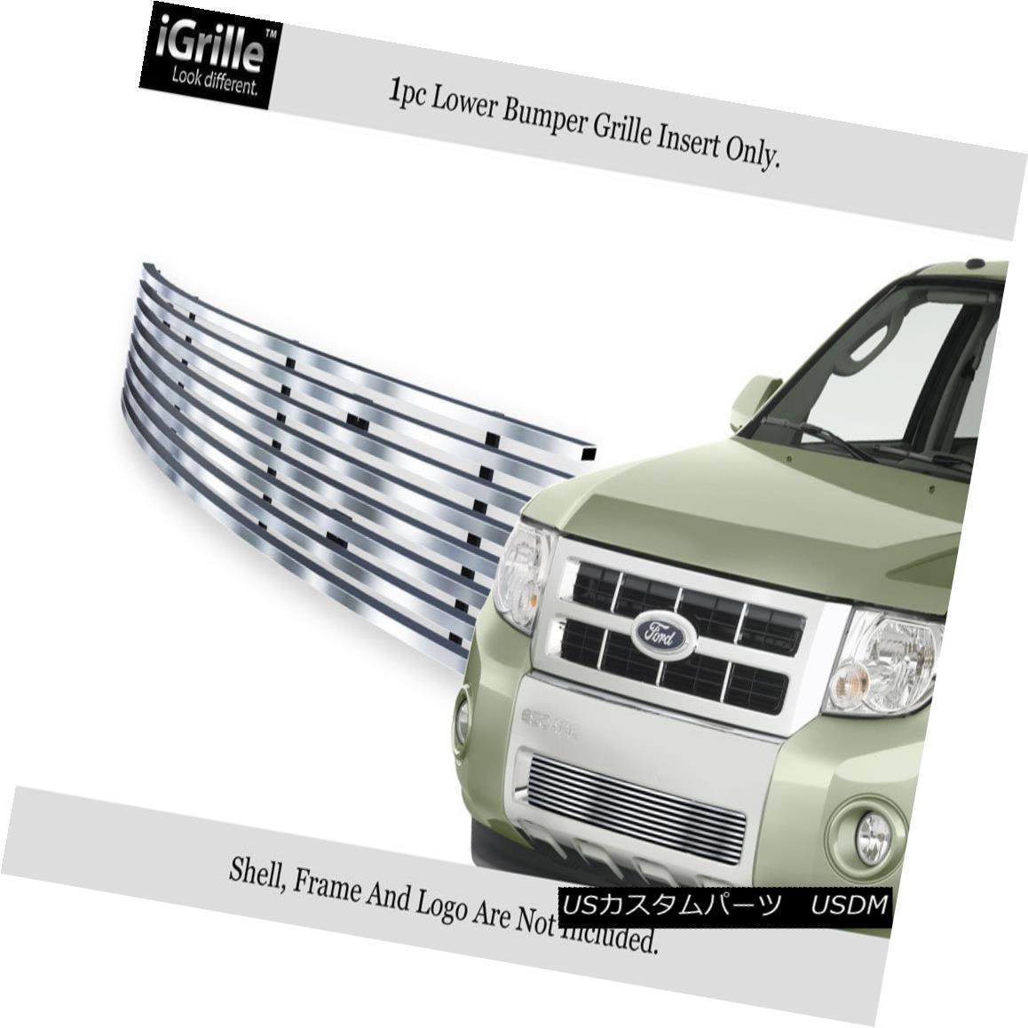 グリル Fits 2008-2011 Ford Escape Bumper Stainless Steel Billet Grille Insert フィット2008年から2011年フォードエスケープバンパーステンレス鋼ビレットグリルインサート