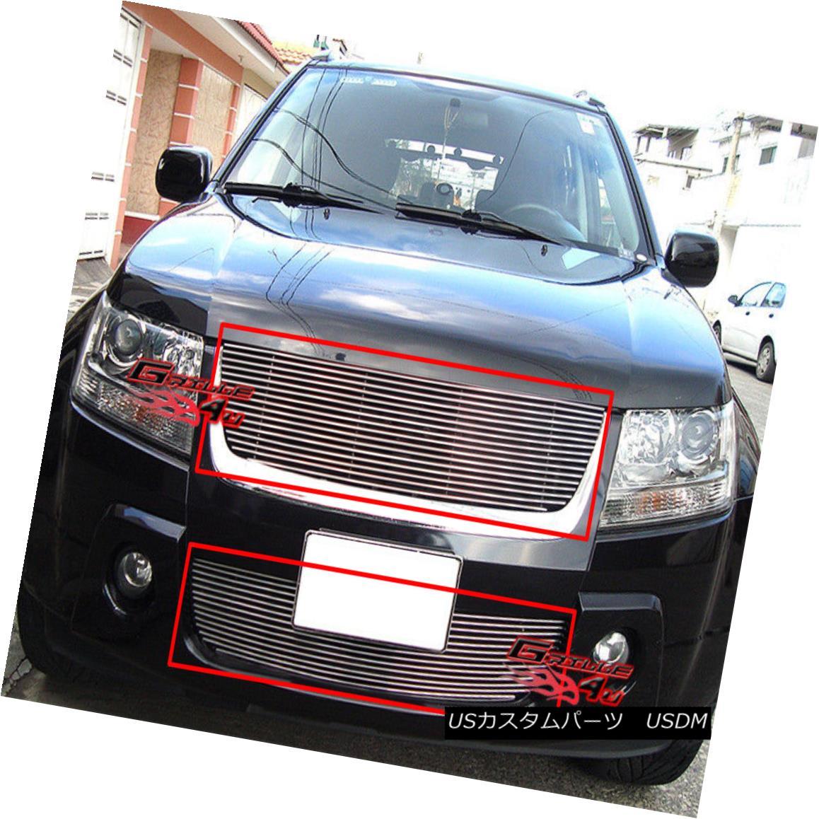 グリル Fits 06-2011 10 09 Suzuki Grand Vitara Billet Grille Combo フィット06-2011 10 09スズキグランドビタラビレットグリルコンボ