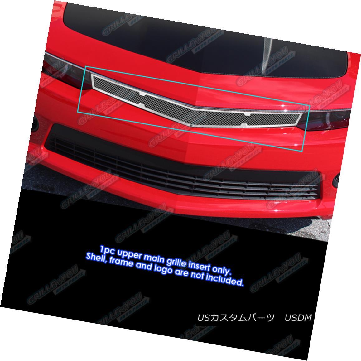 グリル Fits 2014-2015 Chevy Camaro SS/LT/LT With RS Package Stainless Mesh Grille フィット2014-2015シボレーカマロSS / LT / LT RSパッケージステンレスメッシュグリル