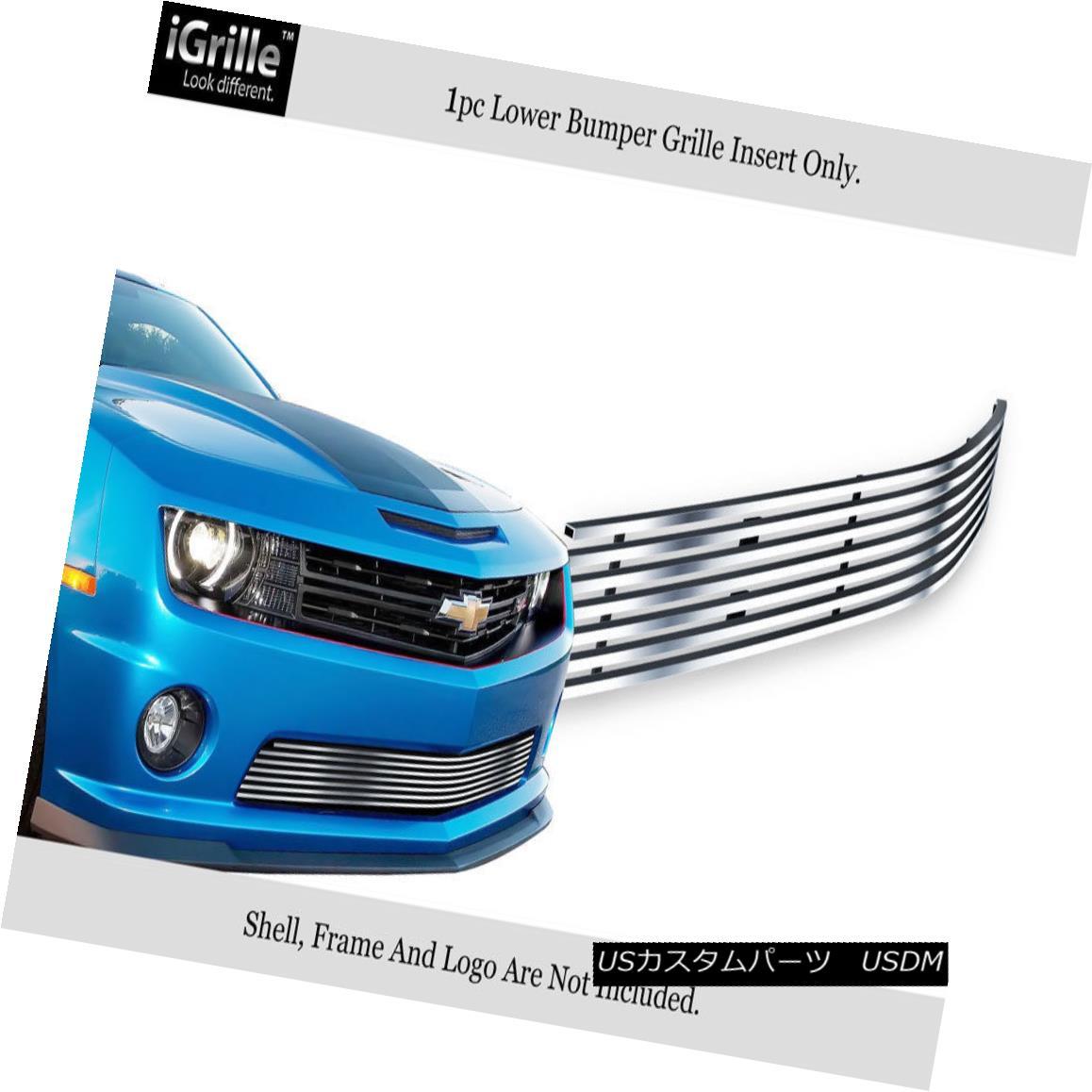 グリル Fits 2010-2013 Chevy Camaro LT/LS V6 Bumper Stainless Steel Billet Grille フィット2010-2013シボレーカマロLT / LS V6バンパーステンレス鋼ビレットグリル