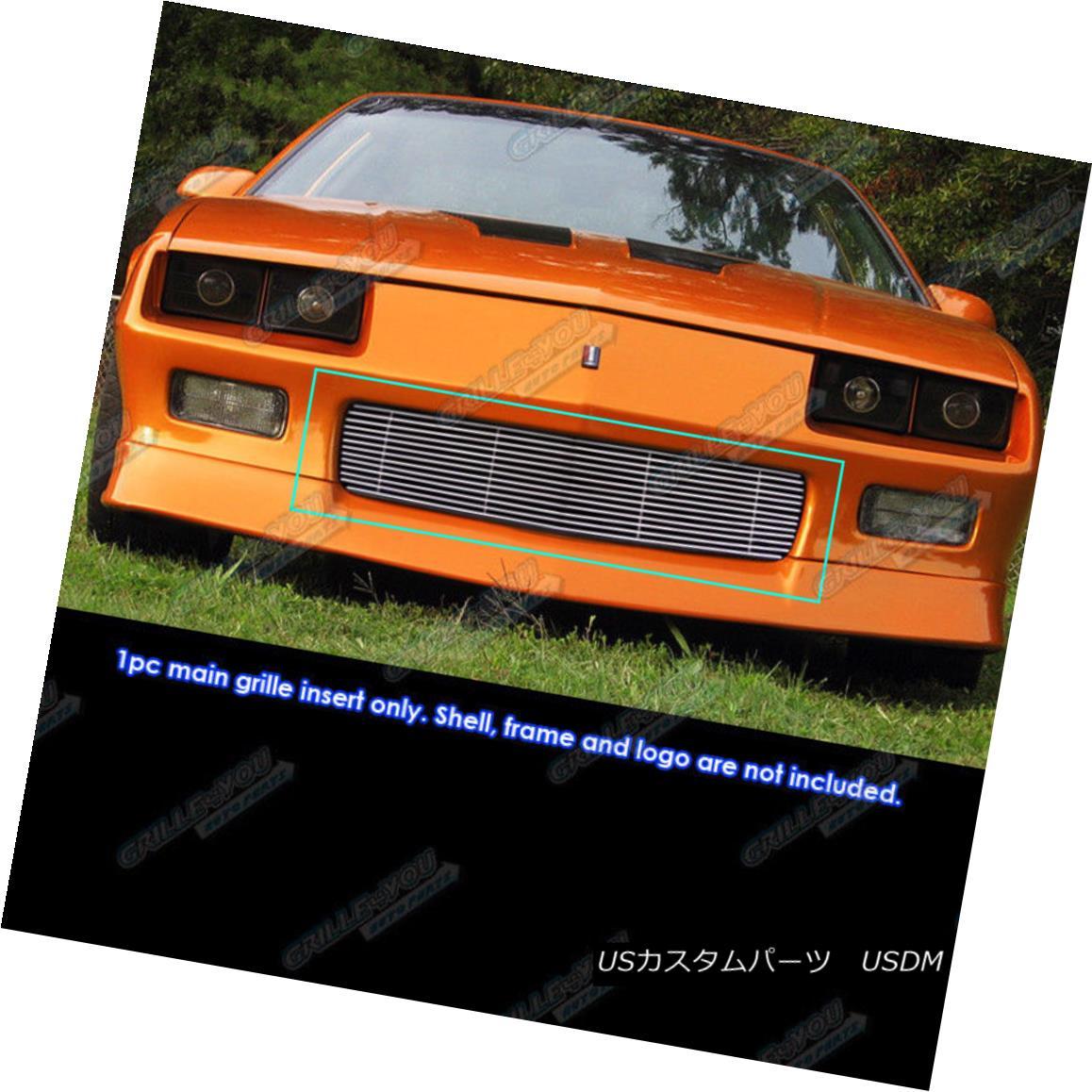 グリル Fits 1988-1992 Chevy Camaro Bumper Billet Grille Insert フィット1988-1992シボレーカンパニーバンパービレットグリルインサート