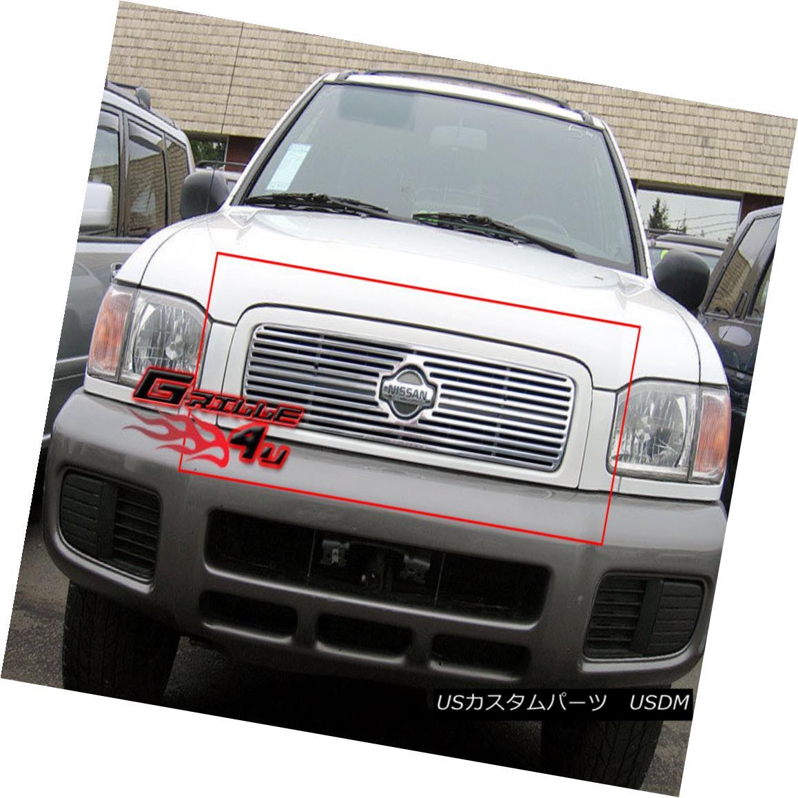 グリル Fits 1999-2001 Nissan Pathfinder Perimeter Grille Insert フィット1999-2001日産パスファインダー周辺グリルインサート