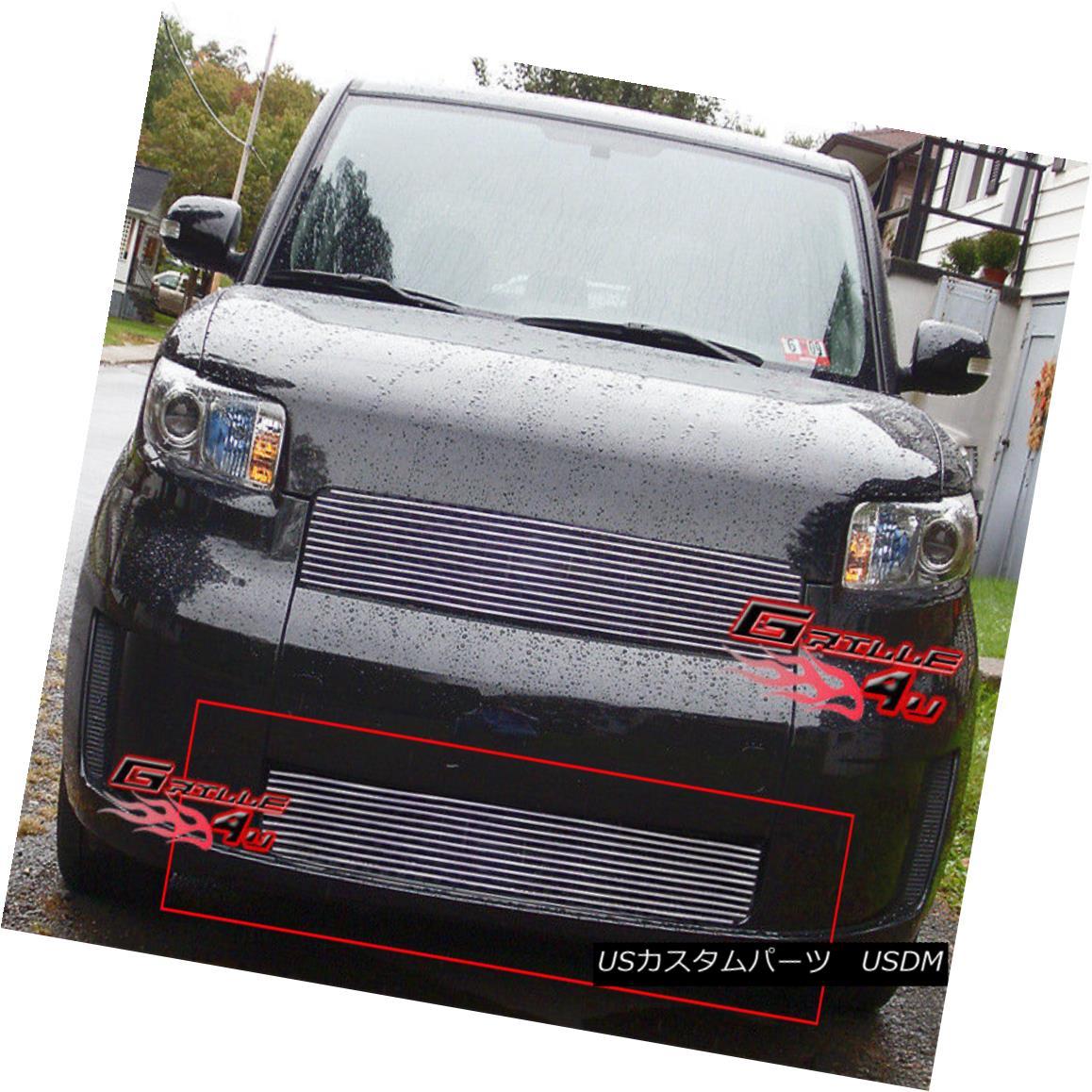 グリル Fits 08-10 Scion XB Lower Bumper Billet Grille Insert フィット08-10サイオンXBロワーバンパービレットグリルインサート
