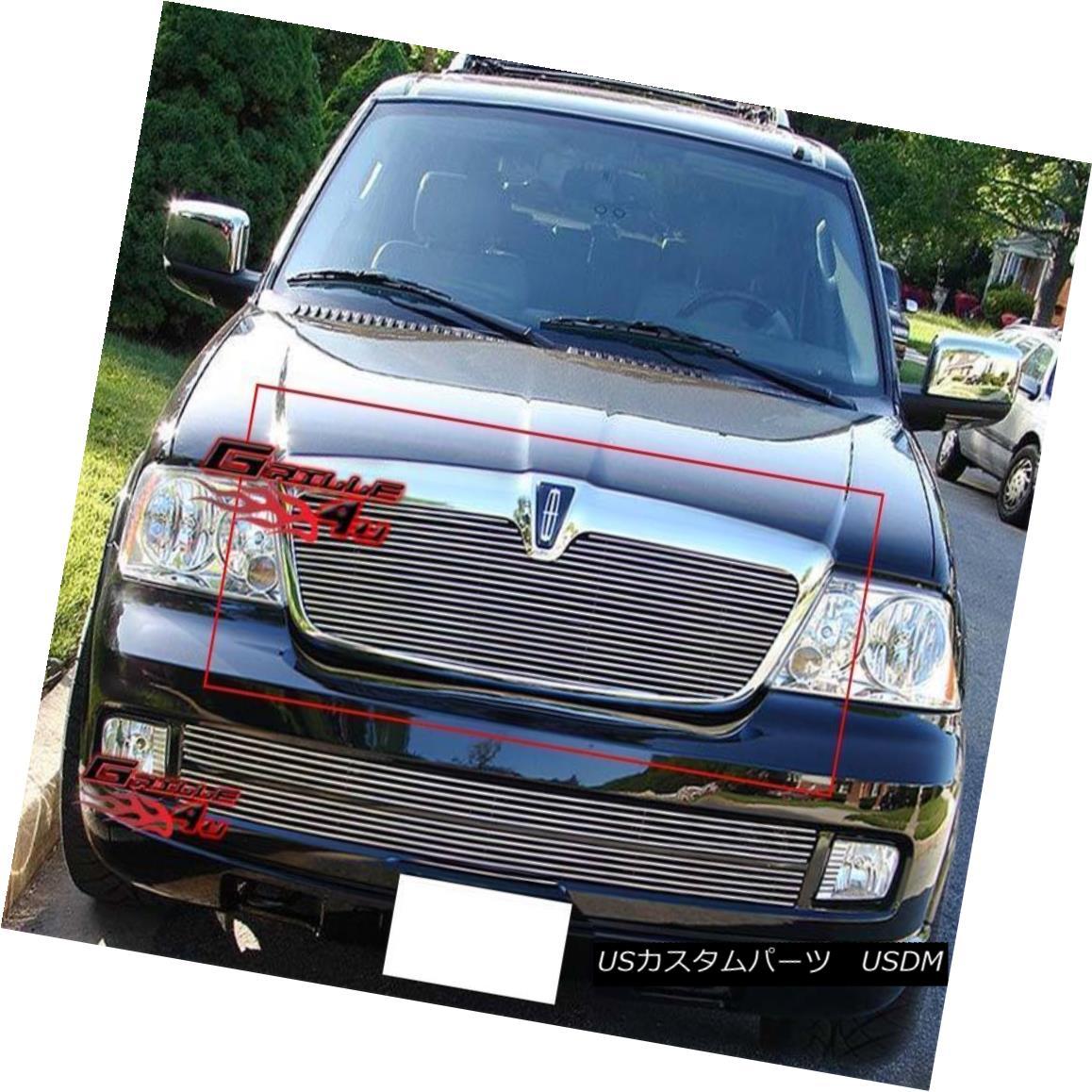 グリル Fits 2003-2006 Lincoln Navigator Main Upper Billet Grille Grill Insert フィット2003-2006リンカーンナビゲーターメインアッパービレットグリルグリルインサート