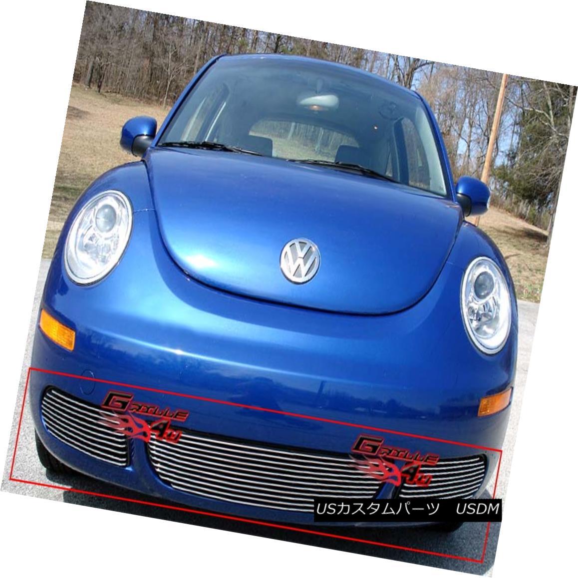 グリル Fits 2006-2011 VW Volkswagen Beetle Bumper Billet Grille フィット2006年から2011年のVWフォルクスワーゲンビートルバンパービレットグリル