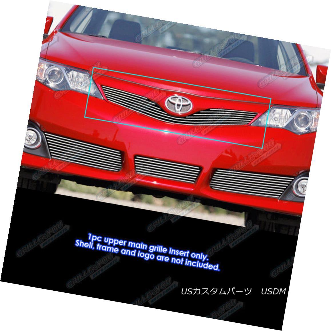 グリル Fits 2012-2014 Toyota Camry SE Main Upper Billet Grille Grill Insert フィット2012-2014トヨタカムリSEメインアッパービレットグリルグリルインサート