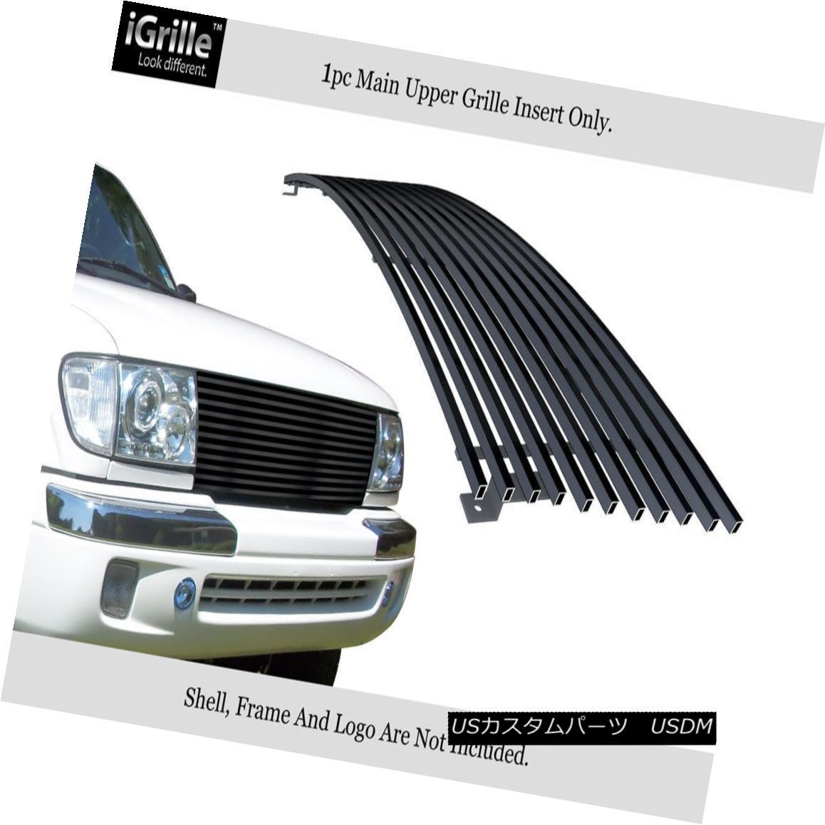 グリル Fits 1998-2000 Toyota Tacoma Stainless Steel Black Billet Grille 1998年から2000年までのトヨタタコマステンレススチールブラックビレットグリル