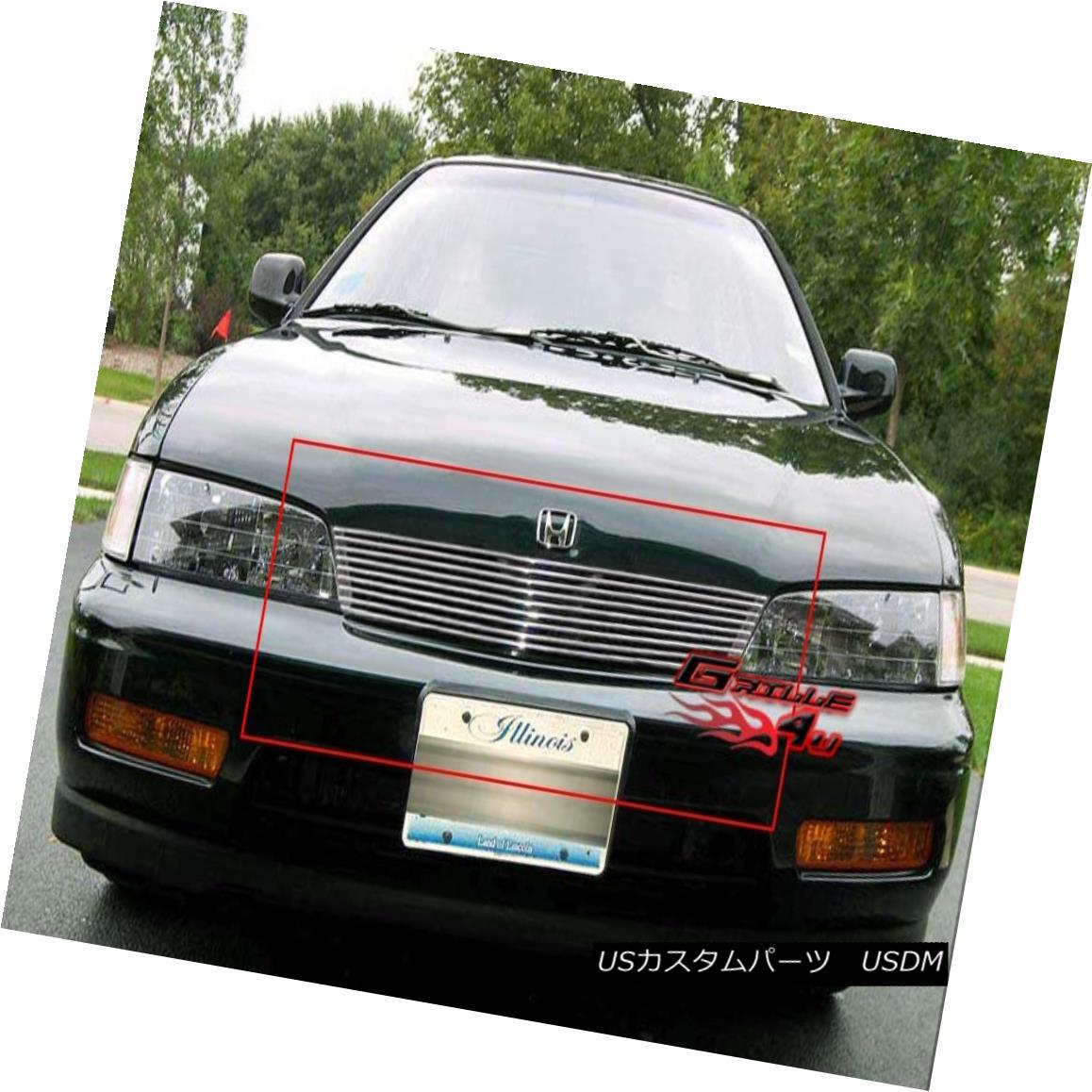 グリル Fits 1994-1997 Honda Accord Billet Grille Insert Ford 1994-1997ホンダアコードビレットグリルインサート