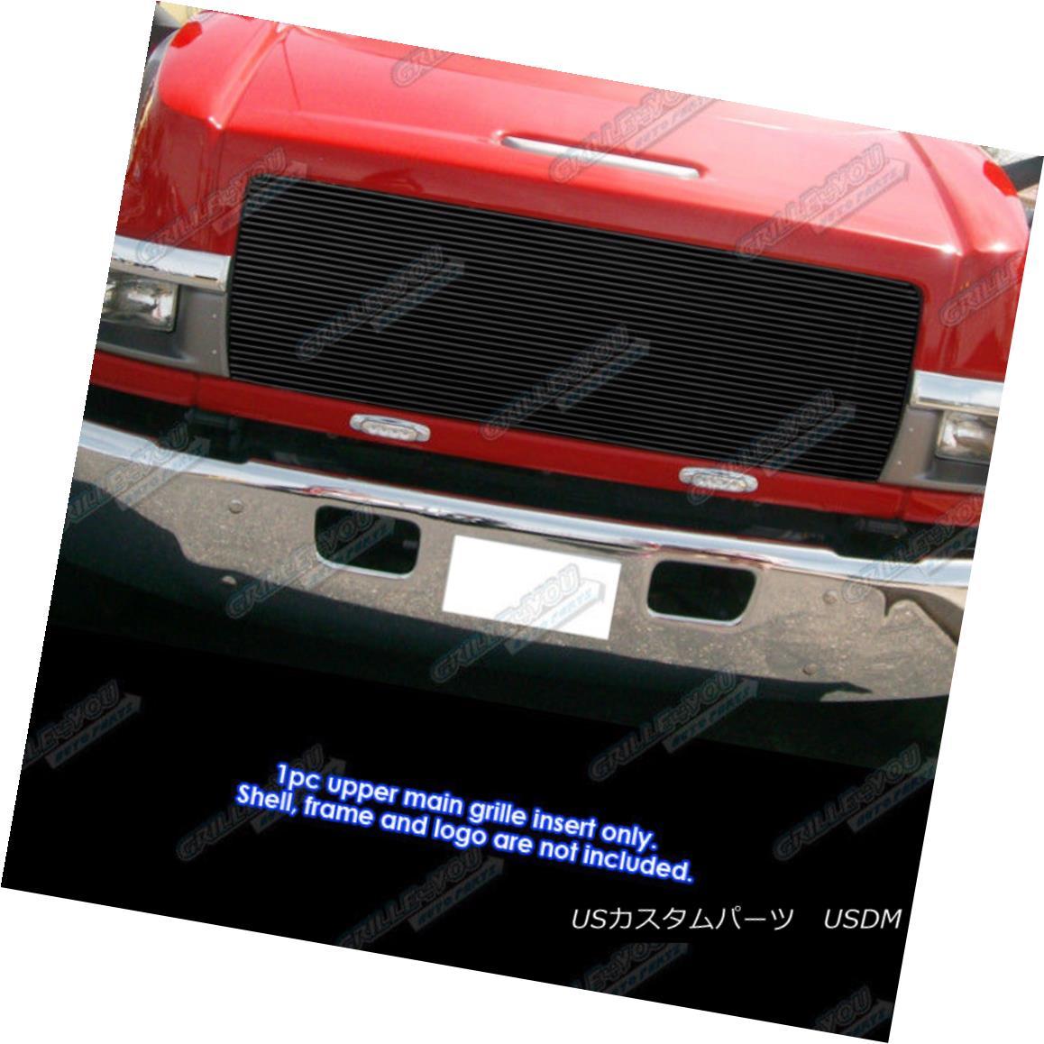 グリル Fits 2003-2009 Chevy Kodiak C4500/C5500/C6500 Black Billet Grille Insert 2003-2009 Chevy Kodiak C4500 / C5500 / C6に適合します。 500 Black Billet Grille Insert