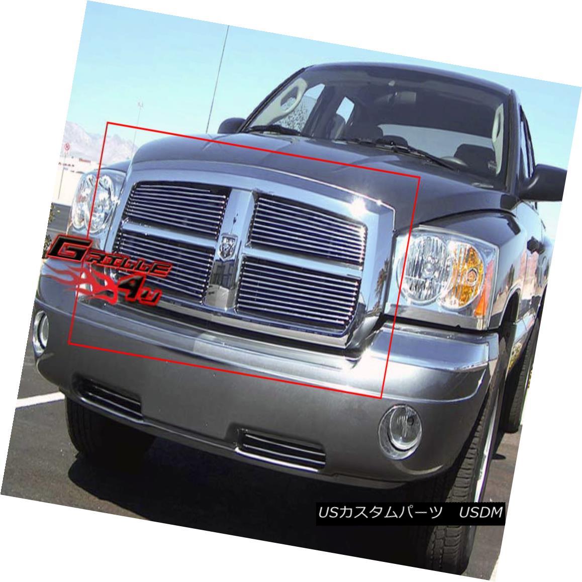 グリル Fits 2005-2007 Dodge Dakota Main Upper Billet Grille Insert 2005-2007 Dodge Dakotaメインアッパービレットグリルインサート