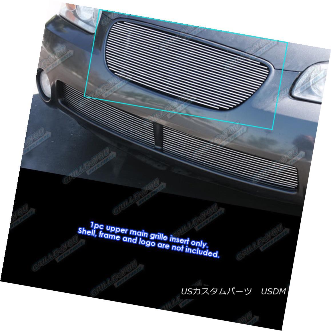 グリル Fits 2002-2003 Nissan Maxima SE/GXE Billet Grill Grille Insert フィット2002-2003日産マキシマSE / GXEビレットグリルグリルインサート