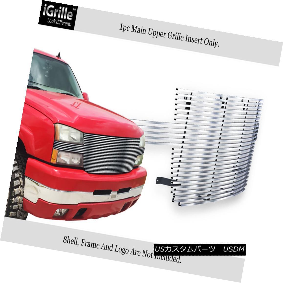 グリル Fits 2005-2006 Chevy Silverado 2500/3500 Stainless Steel Billet Grille Insert 2005-2006 Chevy Silverado 2500/3500ステンレス鋼ビレットグリルインサートに適合