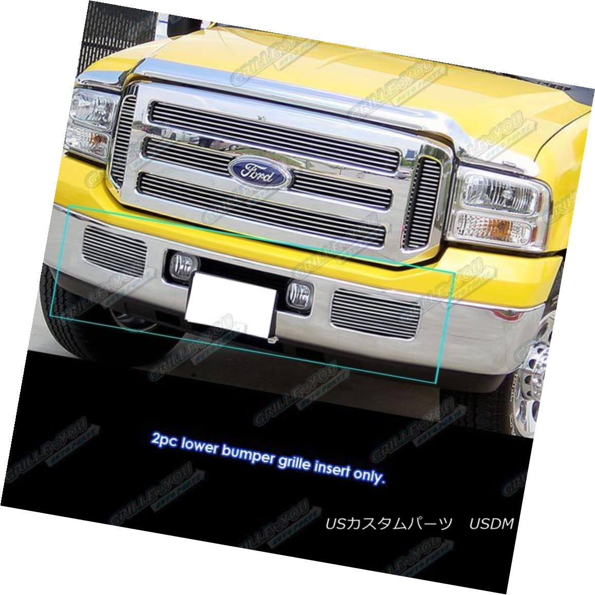 グリル Fits 05-07 Ford F250/F350/Super Duty/Excursion Main Upper Billet Grille フィット05-07 Ford F250 / F350 / Supe rデューティ/エクスカーションメインアッパービレットグリル